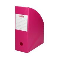 Pojemnik czasopisma 100mm różowy/Pink PCV Biurfol