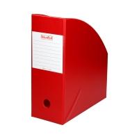 Pojemnik czasopisma 110mm czerwony PCV Biurfol
