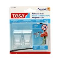 Haczyk samoprzylepny do 1kg przezroczysty Tesa - 2szt.