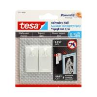 Gwóźdź samoprzylepny na tapety biały do 0.5kg Tesa - 2 szt.