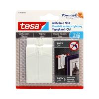 Gwóźdź samoprzylepny na tapety biały do 2kg Tesa - 2 szt.