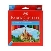 Kredki ołówkowe 48kol zamek Faber Castell 120148