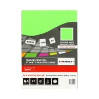 Etykiety uniwersalne 210x297 zielone Emerson - 25ark. w opak.