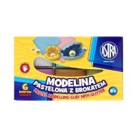 Modelina 6kol pastelowa z brokatem Astra 304118001