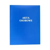 Teczka akta osobowe binda wewnętrzna niebieska niezadrukowane ABCD