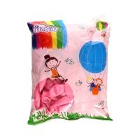Balon 12 metaliczny różowy (100)