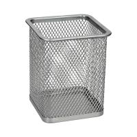 Kubek kwadratowy siatka srebrny B804 Net