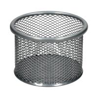 Kubek okrągły siatka średni srebrny B80205 Net