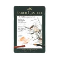 Zestaw artystyczny 12 elementów Pitt Monochrome Faber Castell FC112975