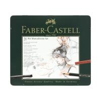 Zestaw artystyczny 21 elementów Pitt Monochrome Faber Castell FC112976