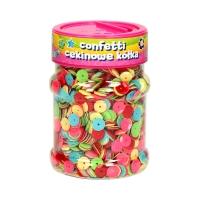 Confetti cekinowe kółka 100g mix kolorów Astra 335116003