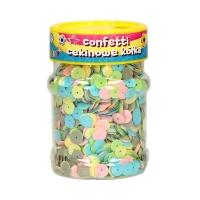 Confetti cekinowe kółka 100g mix pastelowy Astra 335116002