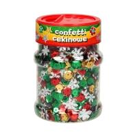 Confetti cekinowe kółka 100g mix świąteczny Astra 335116004