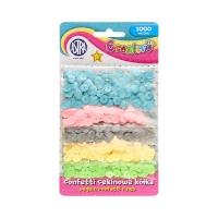 Confetti cekinowe kółka (1000) 5kol pastelowych Astra 335116005