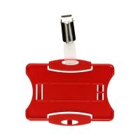 Identyfikator - etui na kartę 85x54 czerwony Durable