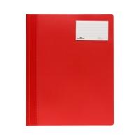 Skoroszyt A4 czerwony nieprzezroczysty Durable