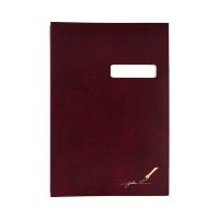 Książka podpis 16k bordowa z okienkiem