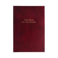 Książka podpis 10k bordowa harmonijkowa Barbara 822256