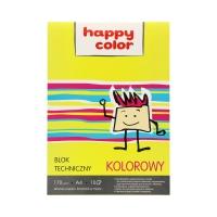 Blok techniczny A4/10 kolor 170g Happy Color
