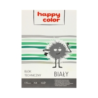 Blok techniczny A4/10 biały 170g Happy Color