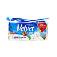 Papier toaletowy celuloza 3w biały Velvet (8)