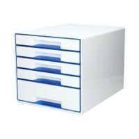 Pojemnik dokumenty 5szuflad biały/niebieski WOW Leitz