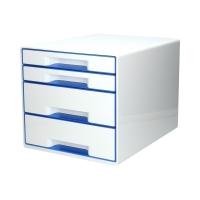 Pojemnik dokumenty 4szuflady biały/niebieski WOW Leitz
