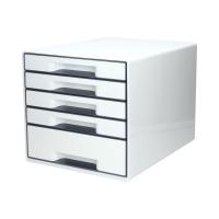 Pojemnik dokumenty 5szuflad biały/szary WOW Leitz