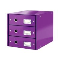 Pojemnik dokumenty 3szuflady fioletowy C&S Leitz