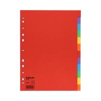 Przekładki kartonowe A4 12k kolorowe Esselte 100202