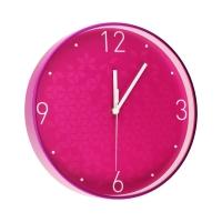 Zegar ścienny różowy WOW Leitz
