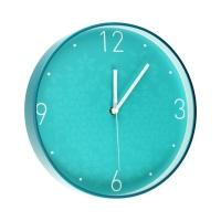 Zegar ścienny turkusowy WOW Leitz