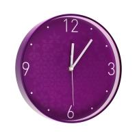 Zegar ścienny fioletowy WOW Leitz