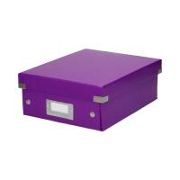Pudełko C&S przegródki małe fioletowe Leitz