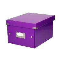 Pudełko C&S uniwersalne małe fioletowe WOW Leitz