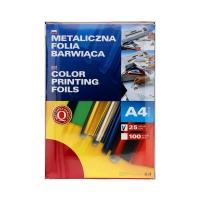 Folia metaliczna A4 czerwona barwiąca Argo (25)