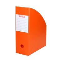 Pojemnik czasopisma 100mm pomarańczowy/Orange PCV Biurfol