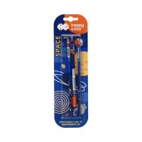 Długopis 0.5mm usuwalny + 2 ołówki Space Happy Color