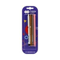 Długopis 0.5mm usuwalny niebieski Uszaki (4) Happy Color