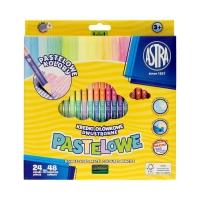 Kredki ołówkowe 24/48kol dwustronne pastelowe Astra 312120005