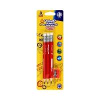Ołówki jumbo do nauki pisania + temperówka Astra (3)