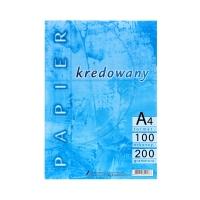 Papier kredowy A4 200g Kreska (100)