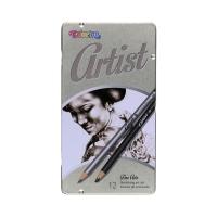 Zestaw do szkicowania - 12szt. ołówków opak. metalowe Colorino 80118PTR