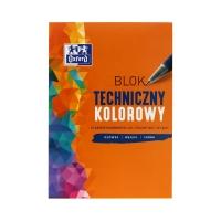 Blok techniczny A4/10 kolor 225g Oxford 400093230