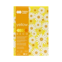 Blok Deco A4/20 5kol żółty HappyColor 2030-012