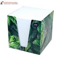 Karteczki 90x90x90 biała kartonowy pojemnik Interdruk