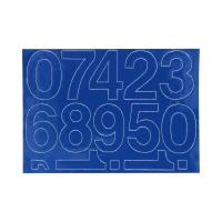 Cyfry samoprzylepne 70mm niebieskie