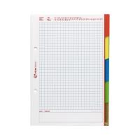 Wkład segregatorowy A5/50 kratka register Interdruk