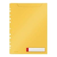 Koszulka poszerzana A4 perforacja żółta - 3 szt - Leitz Cosy 46680019
