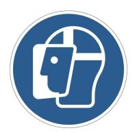 Naklejka na podłogę usuwalna fi430mm - Użyj oslony twarzy Durable
